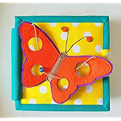 ChubbyCheeks My Butterfly 6 Pages Mini Quiet Busy Book Developmental Toy