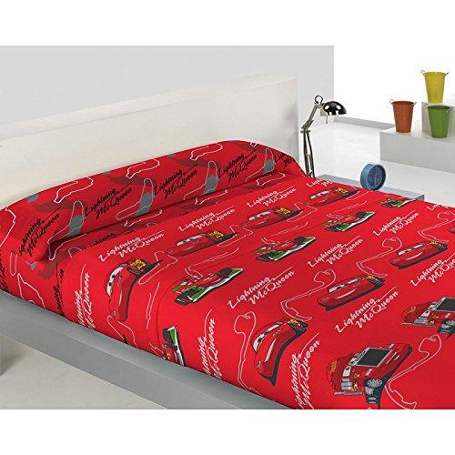 Juego de Sábanas CORALINA DISNEY CARS Rojo Cama 90x190/200 cms BEDSHEET