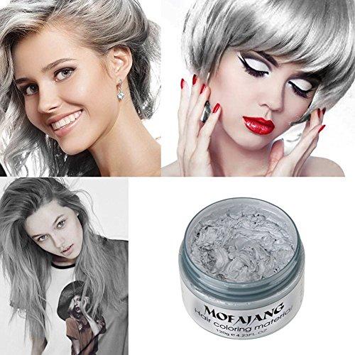 Petansy Haarfärbemittel Wachs Natürliches Haarwachs Einweg-Haarstyling Sofortige Haarfarbe Frisur Färben Wachs