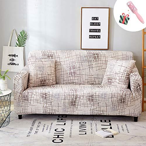 Elastisch Sofa Überwürfe Sofabezug, Morbuy Ecksofa L Form Stretch Antirutsch Armlehnen Plain Einfach Sofahusse Sofa Abdeckung Hussen für Sofa Couchbezug Sesselbezug (3 Sitzer,Holzfarbe)