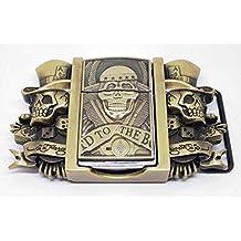 Hebilla de metal para cinturón de motocicleta Dragon Western 8EKmpiUQf