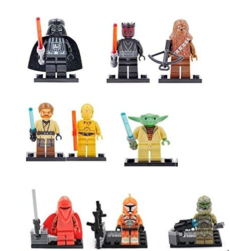 9 x Starwars Minifigures (Set) - Darth Vader, Yoda,, used for sale  Delivered anywhere in UK