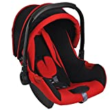 Magicpitara Baby Car Seat Cum Carry Cot With Canopy (Red)