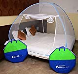 #7: Classic Mosquito Net Foldable King Size (Double Bed) With Saviours - Blue