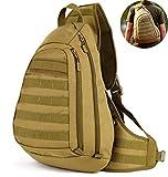 Selighting Militär Brusttasche Crossbody Bag Wasserdicht Umhängetasche Molle Slingbag Taktisch...
