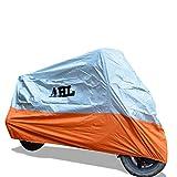 AHL Motocicletta Telo Coprimoto Impermeabile Antipolvere Anti UV Traspirante per Esterni Durante Tutto l'anno (Arancione 3XL)