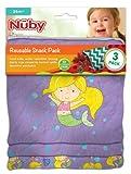 Nuby Reusable Snack Bag, Mermaid