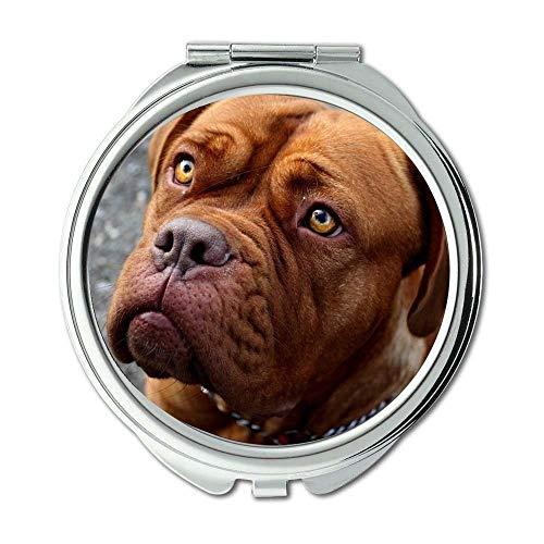Yanteng Spiegel, Reisespiegel, Elefant und Hund, Taschenspiegel, 1 X 2X Vergrößerung