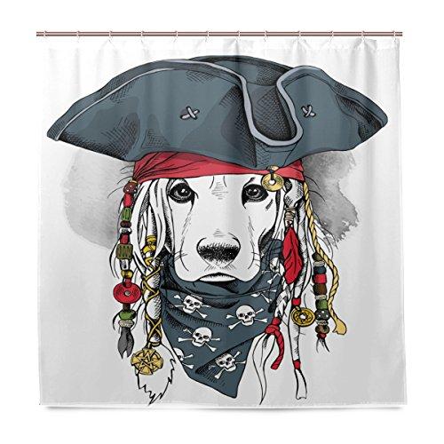 Piraten Hund Hat - Miloha Badezimmer Dusche Vorhang Cocker Spaniel
