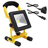 10W Portable LED Work Light Cordless Rechargeable IP65 12v LED Light Hand Lamp