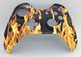Xbox One Controller Original Hydro Dipped Yellow Fire Replacement Shell - Xbox one Front Shell Mod