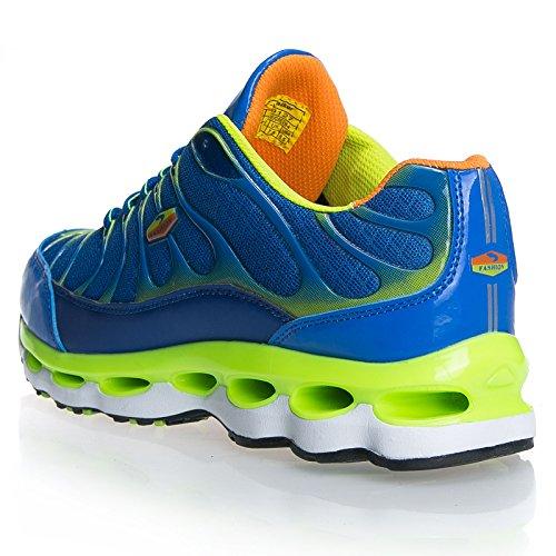 Mforshop Sneakers Hommes Running Fitness Sports Sports Gym Course 9127 Bleu / Vert-9127
