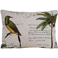 Uccello e verde palma cuscino di design decorativo Cuscino di