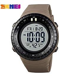 Msxx Reloj Digital, Doble Zona horaria Multi-función Deportes al Aire Libre Reloj Masculino