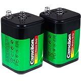 2er Set Camelion 4R25 6V-Block - Ersatz für Nissen Laternenbatterie IEC 4R25, 2x6V, Zink-Kohle