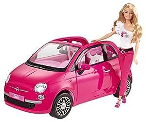 barbie y6857 accessoire poup e voiture fiat 500. Black Bedroom Furniture Sets. Home Design Ideas