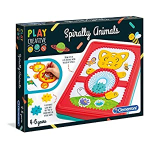 Clementoni 15275 Clementoni-15275-Play Creative-Sphirograph Animals, Multi-Colour