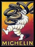 KELLEN WHITEHEAD Metal Vintage Retro Shabby-Chic TIN Sign Michelin Wall Plaque (2885) Affiche de décoration drôle de Panneau de Mur en métal Art