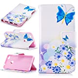 BONROY® Magnetic Flip Cover for Huawei P8 lite 2017,Colorful painted pattern Wallet Case with Hand Strap for Huawei P8 lite 2017, Premium PU Leather Folio Style Flip with Card Slots and Stand Function Case Cover for Huawei P8 lite 2017