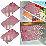 Khushi Creation Refrigerator Mats/Fridge Mats/ Multi Purpose Mats/Drawer Mats/Place Mats Set Of 6 Pcs (Multi) Coin Design (FRDM15)