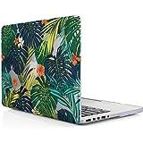 iDOO MacBook Schutzhülle / Hard Case Cover Laptop Hülle [Für MacBook Pro 13 Zoll Retina - ohne CD-Laufwerk: A1425/A1502] - matt, Tropische Palmen Blätter