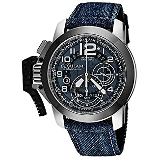 Graham-Herren-Armbanduhr-47mm-Armband-Textil-Blau-Automatik-2CCACU04AT33B