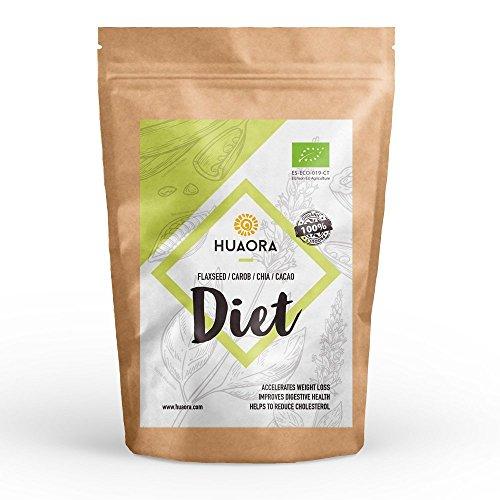 Superfoods: Lino, Algarroba, Cacao, Chia, Azucar de Coco - efecto saciante y eliminación líquidos - Sin Gluten, Soya ni Lactosa...