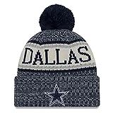 New Era NFL Sideline Bobble Knit 2018/2019 Season Beanie (Dallas Cowboys)