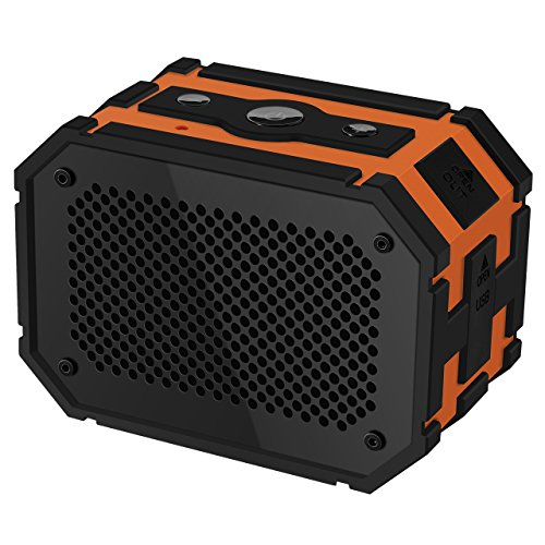 Bluetooth Speakers Waterproof, Mpow Armor Portable Wireless Bluetooth 4.0 Shower Speakers with Additional 1000 mAh Emergency Power Bank Function and Splashproof Shockproof Dustproof ,5W Strong Drive,A2DP/AVRCP for iPhone, iPad, Samsung, Nexus, HTC and More (Halloween 4 Bis Tage)