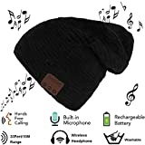 E-More Bluetooth Beanie, Wireless Bluetooth Hat Cap Women Men Winter Warm Hats with Headphone Headset Mic Speaker for Running, Skiing, Skating, Hiking