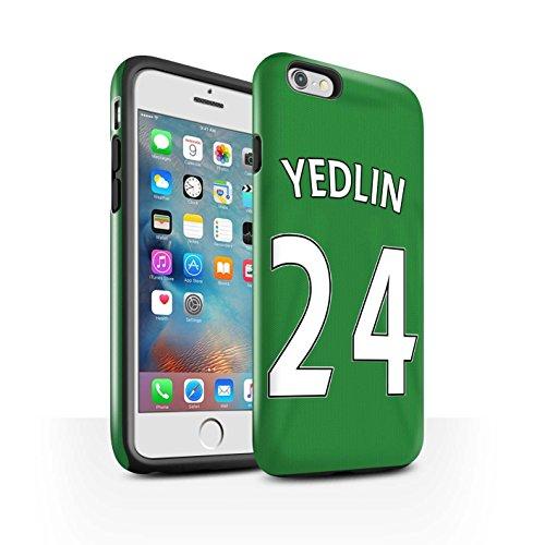 Officiel Sunderland AFC Coque / Brillant Robuste Antichoc Etui pour Apple iPhone 6+/Plus 5.5 / Pack 24pcs Design / SAFC Maillot Extérieur 15/16 Collection Yedlin