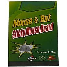 Takestop® - Cuaderno único divisible en 6 trampas adhesivas de 8 x 6,5 cm en tabla con pegamento para ratones, ratas, insectos y reptiles