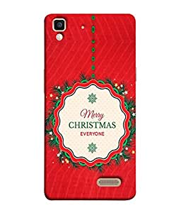 PrintVisa Designer Back Case Cover for Oppo R7 (marry chrishmas wishes to everyone)
