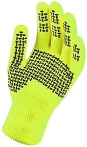 Sealskinz Men's Ultra Grip Gloves - Hi Vis Yellow, Small