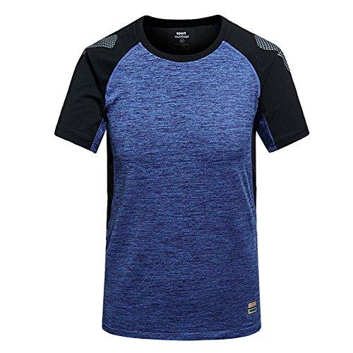 M.Baxter Kompressionsshirt Herren Kurzarm Fitness T-Shirt Freizeit Männer Laufshirt Printed und Klassisch Top Funktionswäsche (Baumwoll-henley Lauren)