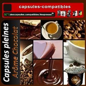 25 capsules compatibles Nespresso® Chocolat