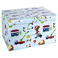 Traffic Foldable Pop Up Room Tidy Storage Chest Toy Box For Girls and Boys, Fabric, Multi-Colour, 50 x 30 x 40 cm