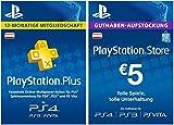 PS Plus Mitgliedschaft 12 Monate + 5 EUR PlayStation Store Guthaben-Aufstockung Gratis [PS4 Download Code für österreichisches Konto]