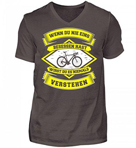 Hochwertiges Herren V-Neck Shirt - Rennradfahrer Fahrrad Fahrradfahrer Rennrad Radsport Niemals Verstehen Geschenk