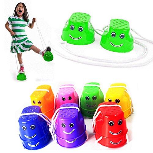 Kentop Kinder Stelzen Spielzeug Kinderstelzen Kinderturnen 1Paar (Zufällige Farbe)