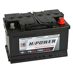 hr hipower autobatterie 12v 75ah 720a en starterbatterie. Black Bedroom Furniture Sets. Home Design Ideas