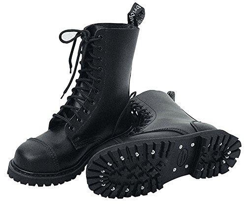 10-Loch Springerstiefel Ranger Stiefel schwarz mit Stahlkappe 38
