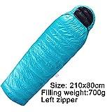 Outdoor Camping 95% White Goose Down Sacco a pelo Ultra Light Envelope Split down Sleeping Bags