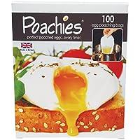 Poachies sacchetti per preparare le uova in camicia  dimensioni  17 cm x 13 5 cm x 3 cm  confezione da 100