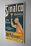Blechschild Softdrink Sinalco Mann mit Hut 20x30 cm