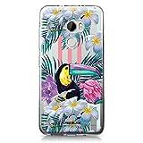 CASEiLIKE® HTC X10 Hülle, HTC X10 TPU Schutzhülle Tasche Case Cover, Tropische Blumen 2240, Kratzfest Weich Flexibel Silikon für HTC One X10
