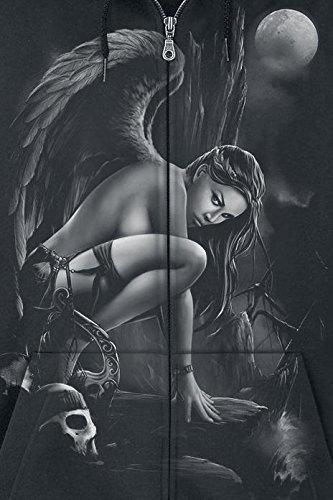 Toxic Angel Siren Sweat à capuche zippé noir Noir