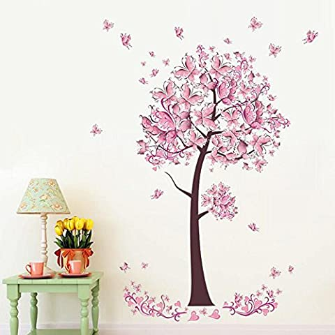 Huatuo® Cute Christmas Butterfly Tree Stickrs Fashion Design DIY Wall