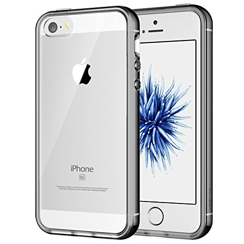 JETech Funda para iPhone SE, iPhone 5s y iPhone 5, Carcasa Anti-Choques/Arañazos, HD Clara