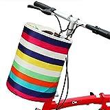 Fahrradkorb, Front Carrier Basket Bag (Wasserdichte mit Haken) Upxiang Regenbogenfarbe Bicycle Kinder korb B